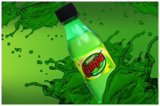 Lime and Lemon Flavored Sweetened Carbonated Beverage